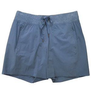 TE VERDE Blue Athletic Shorts Hiking Stretch S